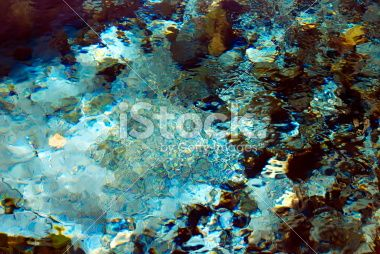 Turquoise Fresh Spring Water Background Royalty Free Stock Photo
