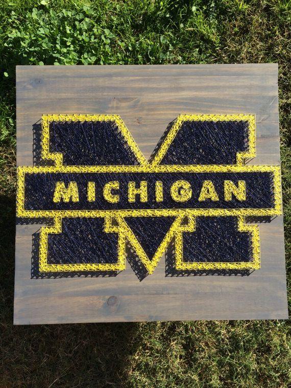 MADE TO ORDER Custom Michigan university string by KailsStringArt