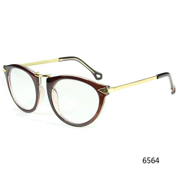 Retro Clear Lens Tortoise Shell Nerd Geek Plain Glasses Men Women Golden KWO #ODM #CatEye
