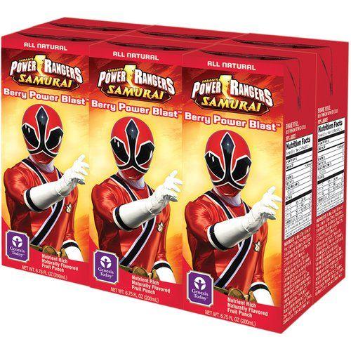 Genesis Today Saban's Power Rangers Samurai Berry Power Blast Juice Drinks, 6.75 oz, 6ct