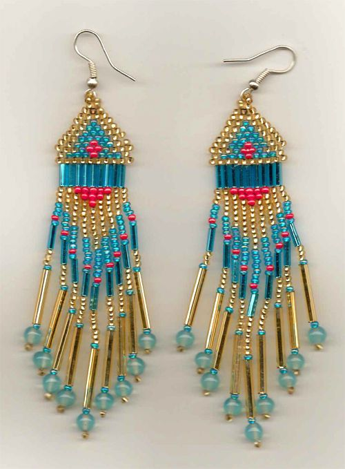 435 best beadwork earrings images on pinterest native for Native crafts for sale