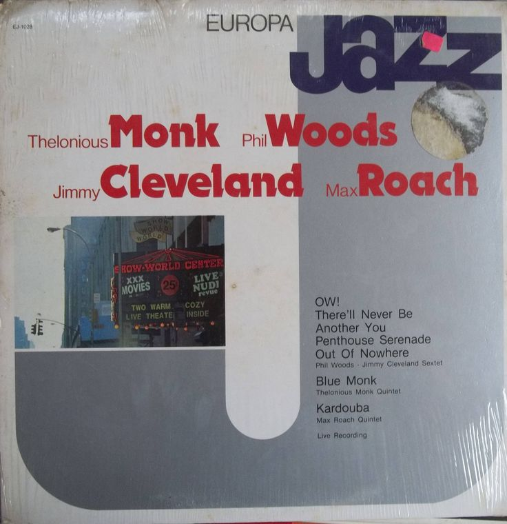 Thelonious Monk, Max Roach, Phil Woods, Jimmy Cleveland, Europa Jazz, Vintage Record Album, Vinyl LP, Still Sealed, Mint Condition, Jazz by VintageCoolRecords on Etsy