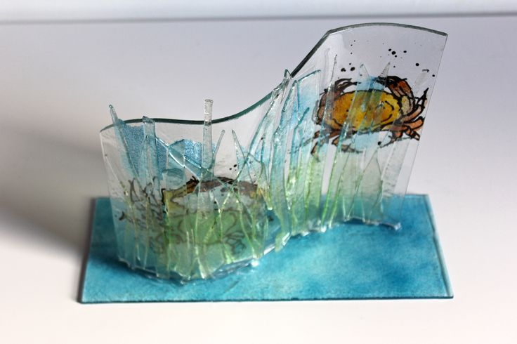 CRABS (PARTONS) GLASS CURVE 26 X 20 cm