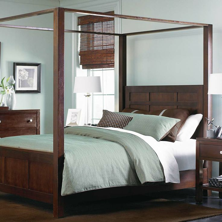 Redin Park Queen Size Poster Bed With Canopy By Bassett   Darvin Furniture    Canopy Bed Orland Park, Chicago, IL