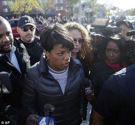 Baltimore #chimpout - Baltimore Chimp-in-chief Stephanie Rawlings-Blake tours the city Tuesday, April 28, 2015, in the aftermath of rioting following Monday's funeral for Freddie Gray, who died in police custody, in Baltimore. (AP Photo/Matt Rourke)