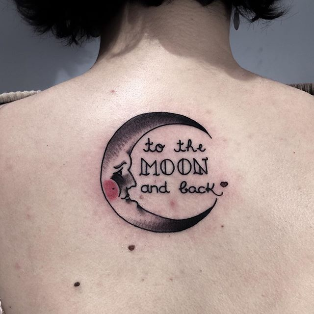 Ideas You Tattoo And Moon Back I Love