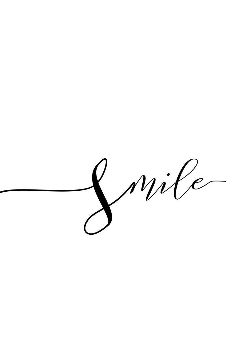 Lächeln Sie, Poster, Frau druckbare Geschenk, Sch…