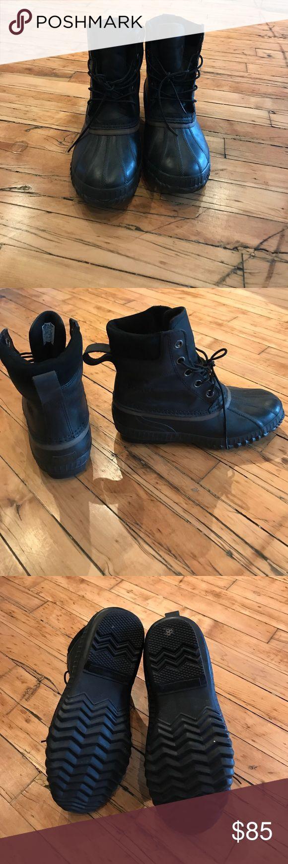 Sorel Boots Men's Cheyenne ace full grain leather boot. Casual, heavy rain, light snow Sorel Shoes Rain & Snow Boots