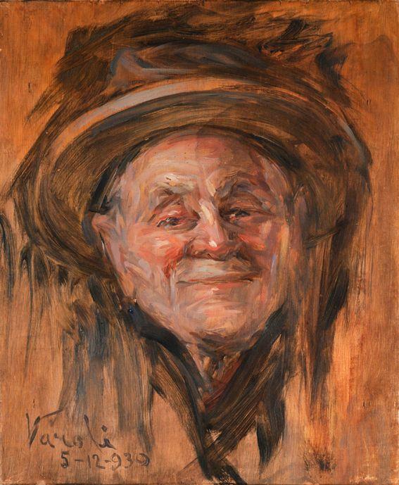 Luigi Varoli / Ritratto di Tommaso Giovanelli / 1930 / olio su tavola, cm 29x24 (Cotignola, collezione privata)