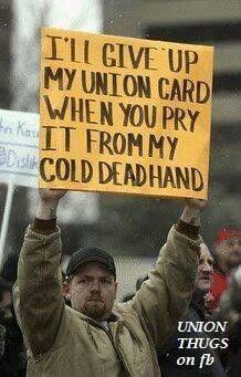 This gentleman  won't surrender his union card!!