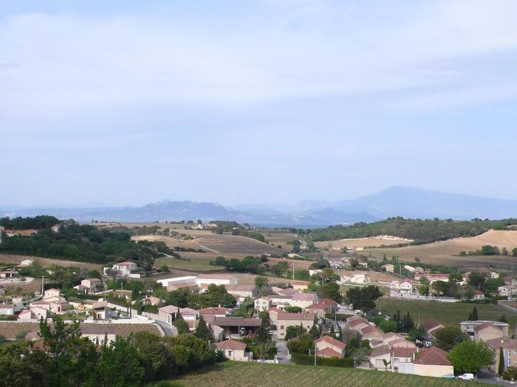Vue sur le Mont Ventoux, au loin