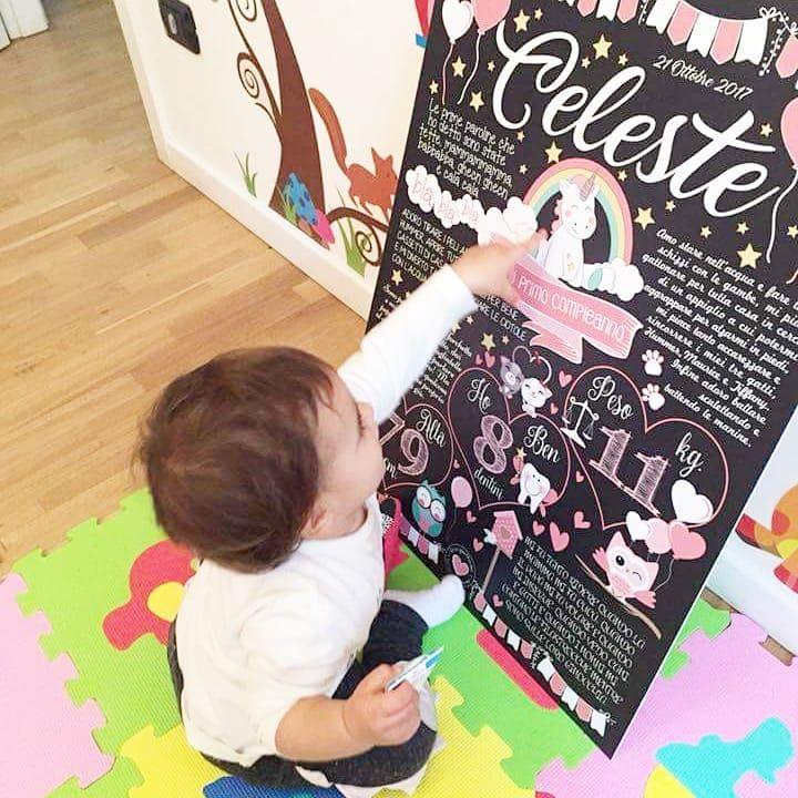 """""""Mi piace"""": 41, commenti: 1 - Lavagne Compleanno❤Andre&Sere💑 (@lavagnettiamo) su Instagram: """"🦄🦄Mamma Elisa ci ha scritto dicendo """"Io adoro i gufetti carini e gli unicorni, me la fate una…"""""""
