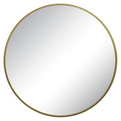 Round Decorative Wall Mirror Brass - Threshold™ : Target  $47.49