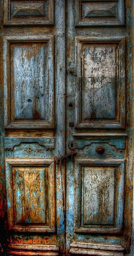 Door in Sfax Medina, Tunisia #silvery_blue #blue