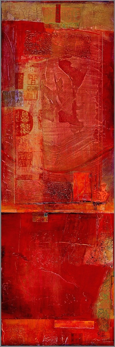 Fine Art Print–Rouge Chaussures par Kate Hoffman Art, Red, 19 x 24