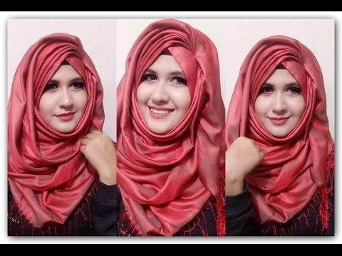 Exclusive Side Layered Hijab Style/Tutorial || Rian Beauty - YouTube