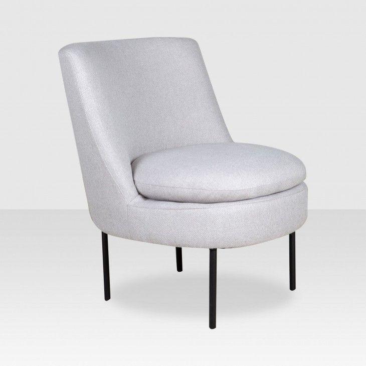 Maddie Armless Chair Grey Elte Market Armless Chair