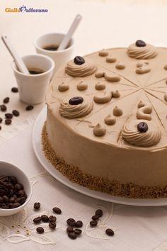 Torta al caffè: fresca ma corposa come una mousse! Ogni fetta, una bella scossa!!   [Coffee cake]