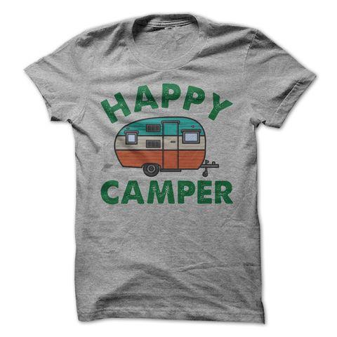 Happy Camper T Shirt - awesomethreadz