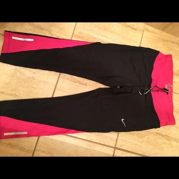 Nike running pants Spandex Nike running pants. Worn once. Perfect condition. Nike Pants Capris