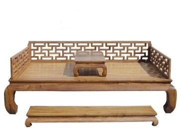 elegant set 3pcs chinese hand made rosewood day bed