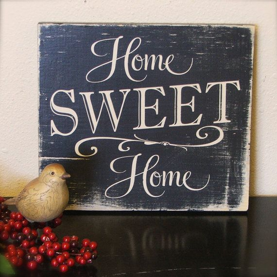 Hand painted sign on reclaimed wood Home by OldBarnRescueCompany