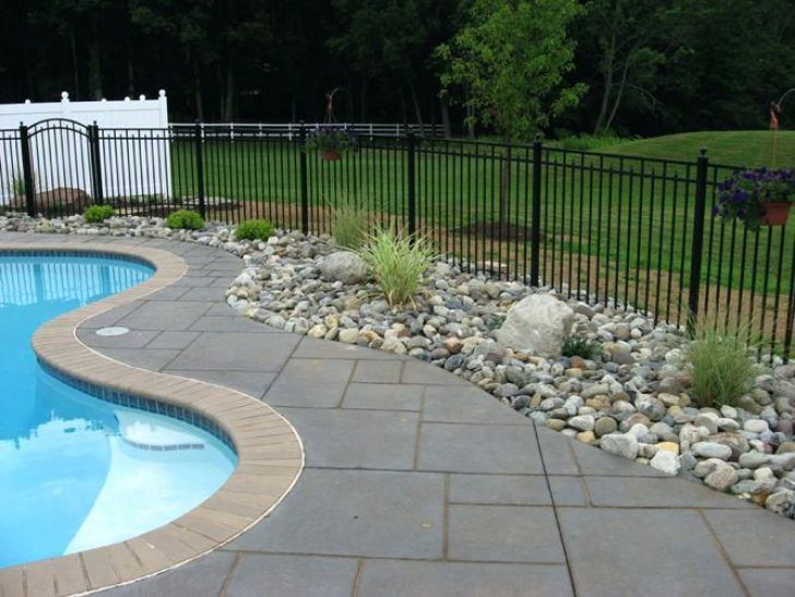Prime Landscaping Ideas For Pool Area Pictures 6 Back Yard Swimming Pool Landscaping Swimming Pool Landscaping Inground Pool Landscaping Backyard Pool Landscaping