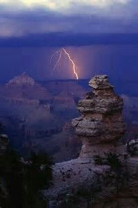 Lighting Storm Over Grand Canyon