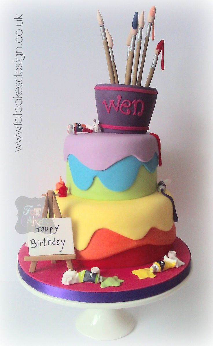 49 best paint images on Pinterest Artist cake Art cakes and