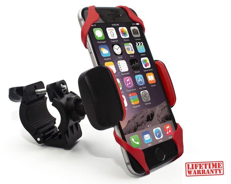 Bike Phone Mount Holder preferably made out of rubber bands and coffee stirrers or something similar.  My iphone is a 5 or something and is in a case I got from Joe across the street.