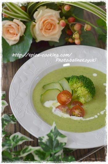 staubでコトコト・・・ズッキーニとブロッコリーの冷製スープ by バリ ...