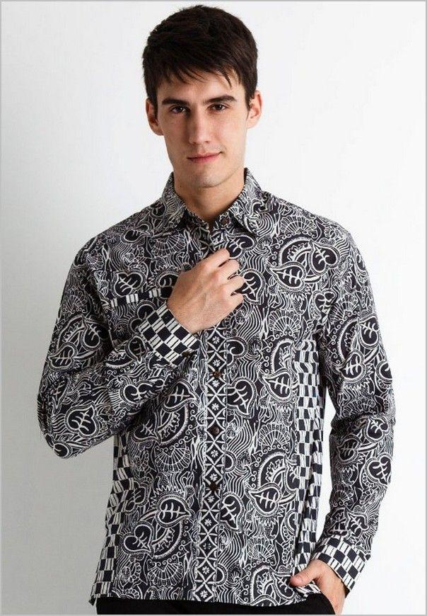 12 Model Baju Batik Kantoran Terbaru Untuk Pria -