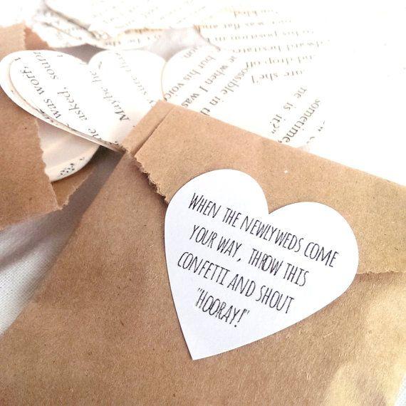 Confetti favor seals (24) - confetti bag seals - confetti cone stickers