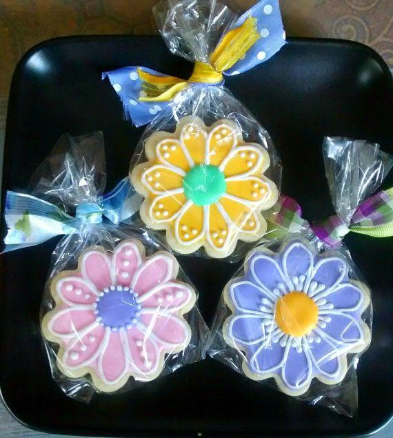 12 flowers any occasion sugar cookies by SweetArtSugarCookies