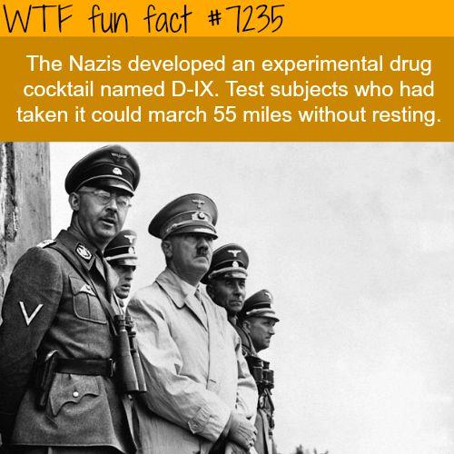"wtf-fun-factss:  "" NAZI super soldiers - WTF Fun Fact  """