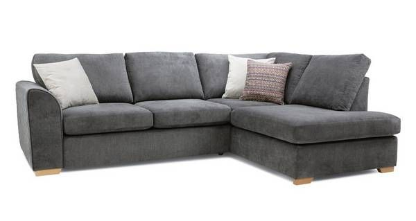 Pacha Left Hand Facing Arm Open End Corner Sofa Sherbet Dfs Corner Sofa Corner Sofa Uk Grey Corner Sofa