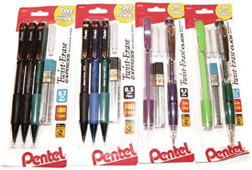 Bundle 4 Items Pentel Mechanical Pencils TwistErase ExpressClick ** For more information, visit image link.