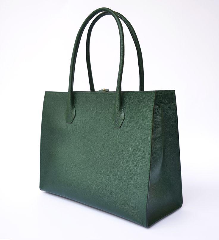 Dara Absinthe Green www.akichoklat.com | Aki Choklat | #luxurybag #businessbag