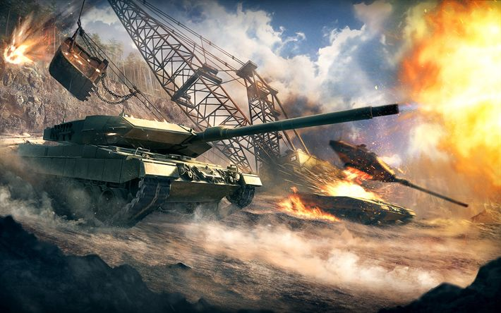 Hämta bilder World of tanks, online-spel, moderna pansarfordon, tank slaget