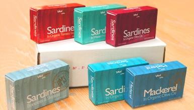 Canned Portuguese Sardines & Mackerel Sampler