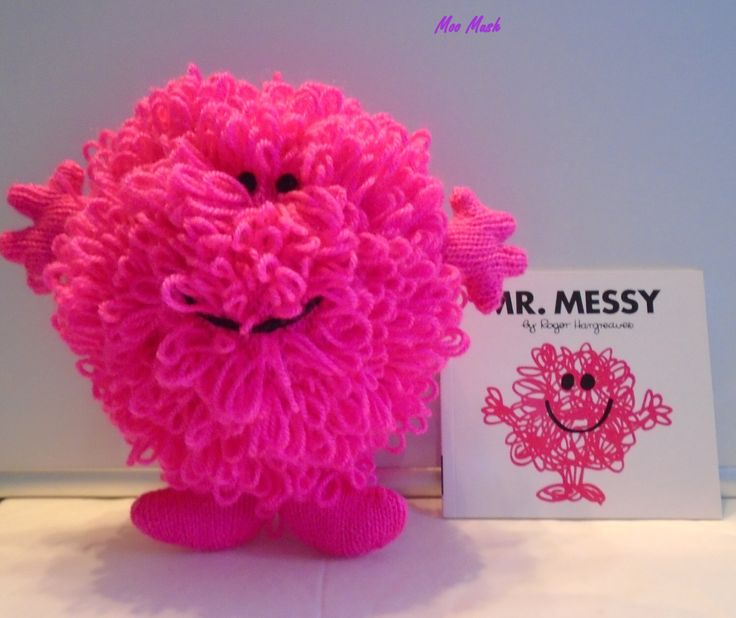 Hand Knitted Mr Messy