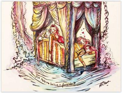 Love in Versailles.    Arist: NIlle Horgen of www.nilleillustrations.com    #lgbt #gay #gayrights #homo #equality #gaynorway #norway #lgbtillustrations #loveiloveisloveislove #nilleillustrations