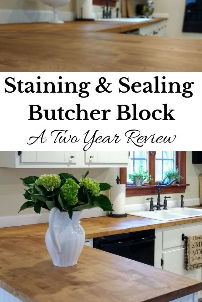 Sealing Butcher Block Countertops With Dark Tung Oil A Food Safe Stain For Butcher Block Joyfully Treasured Butcher Block Countertops Kitchen Diy Butcher Block Countertops Ikea Butcher Block