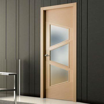 Sanrafael Lisa Glazed Door - Model K05V3 Oak Decape Prefinished You have a choice of Clear and Matt frosted safety glass. #glazeddoors