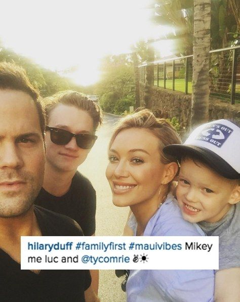She's been hitting the beach with her adorable son Luca, ex-husband Mike Comrie, and his brother Ty. | Hilary Duff Is Having The Cutest Family Vacation In Hawaii