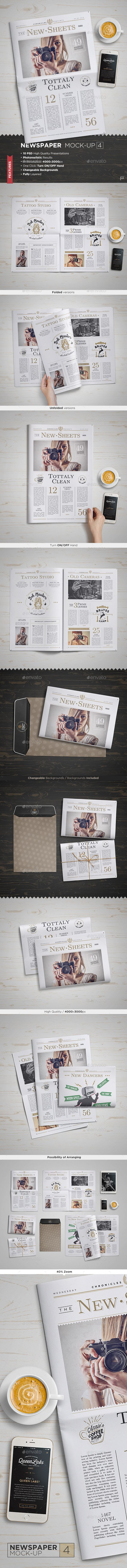 Newspaper Mock-Up #design Download: http://graphicriver.net/item/newspaper-mockup-4/11427146?ref=ksioks