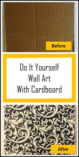 DIY Wall Art Using Cardboard. Easy project! Only $1. Cheap.