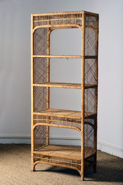 etag re en rotin sur structure bois shelf in rattan on a wood srtucture d coration et. Black Bedroom Furniture Sets. Home Design Ideas
