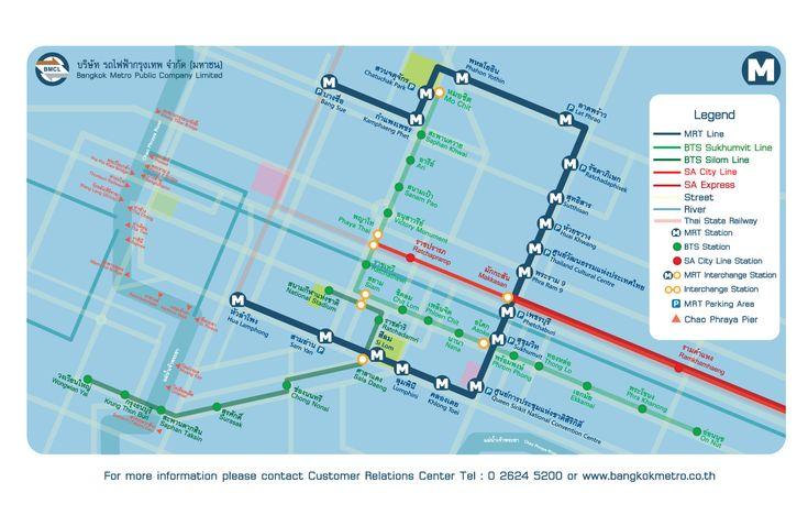 A linha Chaloem Ratchamongkhon (do sistema MRT) se tornou o primeiro metrô da Tailândia, já que a seção inicial da linha de Hua Lamphong à Bang é o primeiro sistema de trens na Tailândia, que foi construído com a característica de ser totalmente subterrâneo. O #metrô de #Bangkok foi construído em 2004 com a ideia de dar uma maior cobertura e complementar as linhas existentes dos trens Skyline (Linha Verde, Skytrain BTS).
