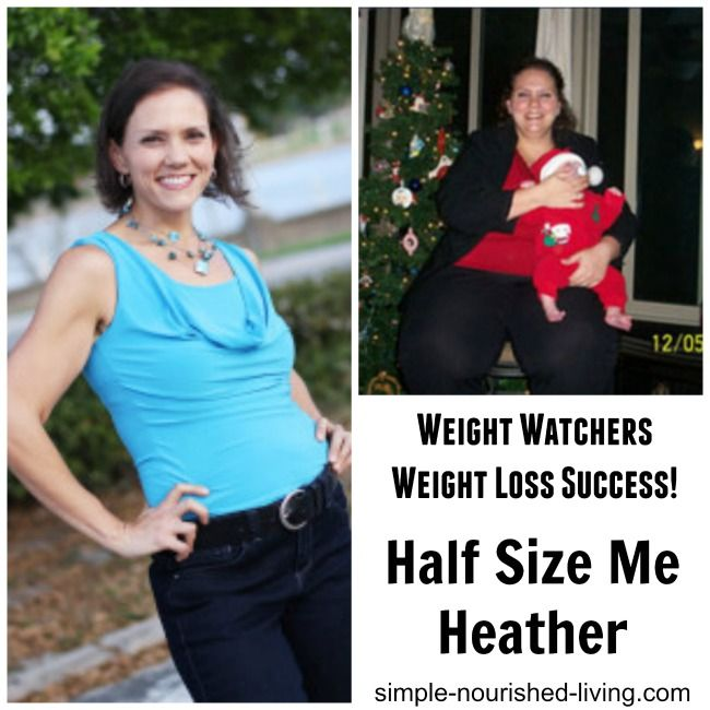 Weight Watchers Weight Loss Success Half Size Me Healther